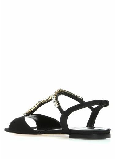 Beymen Collection %100 Saten Sandalet Siyah